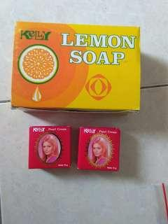 2 in 1 sabun dan cream kelly BARU take all 25k