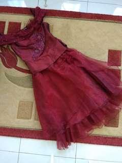 Maroon 👗 dress