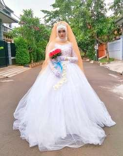 Gaun | Sewa Gaun | Gaun Pengantin | Gaun Putih | Wedding Dress