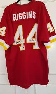 AUTOGRAPHED RIGGINS JERSEY