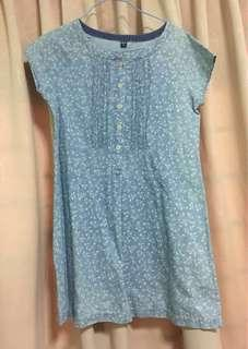 Blue Floral Uniqlo Blouse size 16
