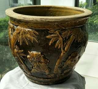 Flower pot bamboo