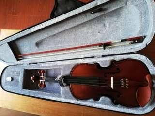 Bachendorff Violin Matte Finish barely used 4/4 (Hard Case included) (Brand New Bow)