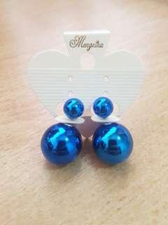 Double Side Round Stud Earrings