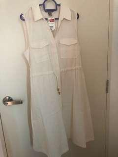 NEW H&M White Casual Dress