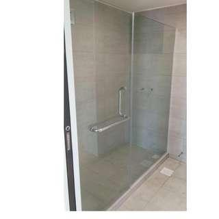Glass to Wall Shower Screen - For HDB/BTO (Call 88668884)