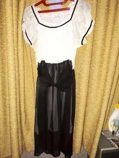Dress preloved bahan sifon (chiffon)