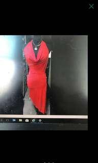 Red Hot Backless Party Dress