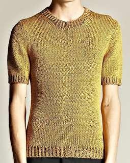 Knitted Crop Top yellow #BlackFriday100