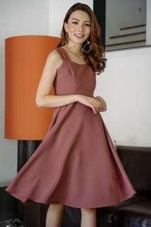Wardrobemess Sweetheart Midi Dress (Mauve)