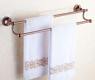 Rose Gold Double Towel Hanger