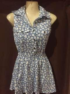 Blue hearts dress