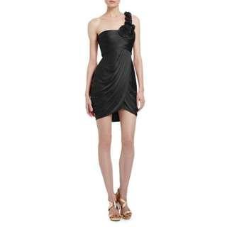 BCBGMaxAzria Addison One-Shoulder Cocktail Dress Size Small