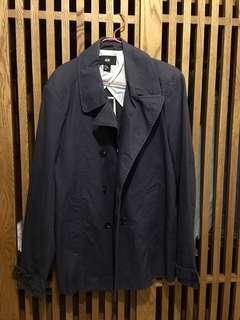H&M 灰藍色棉質外套