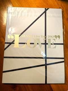 (全新) 嵐 Arashi Live Tour 2013 Love 場刊