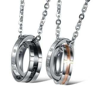 🚚 Love Eternity Couple Necklaces. Stainless Steel.