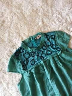 Green dress with details