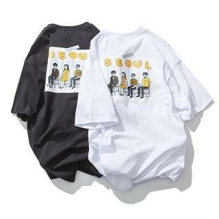 Unisex Oversized T-Shirt Korean style