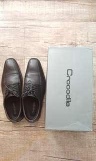 Crocodile CR Formal Black Shoes