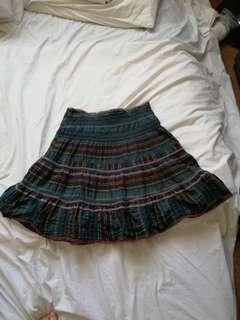 Stretchy layered green and brown skirt #APR10