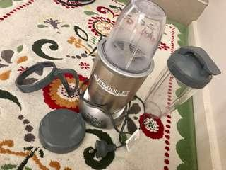 Two NutriBullet silver & gold