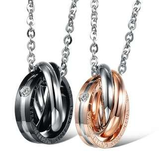 🚚 Endless Love Couple Necklace.  Stainless Steel.