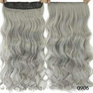 Light Gray Wigs Synthetic Wig Fashion Women Full Sexy Long Curly Wavy Hair Wigs