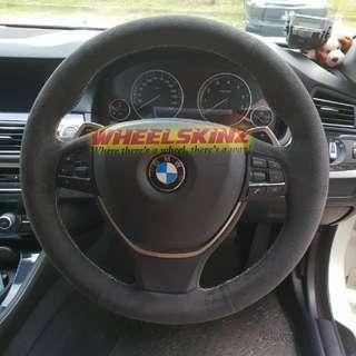 BMW customised steering wheel wrapping by Wheelskinz