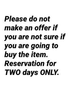 Offer and reservation policy