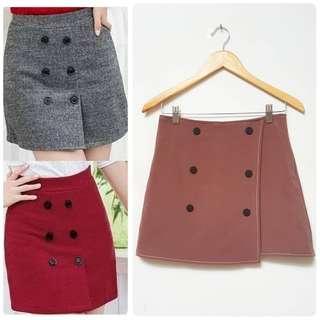 Button brown skirt SALE NETT