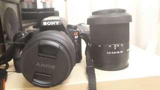 Sony a37 + 2lense + tripod