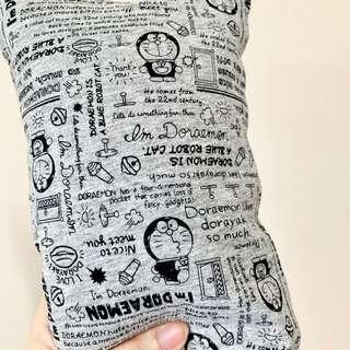 🌈 Bean Sprout Husk Pillow / Beanie Pillow ( 100% Handmade ) Jersey Cotton , Premium Quality!) size 15 x 40cm Doraemon in grey