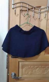 🚚 秋冬 深藍 毛呢 短裙