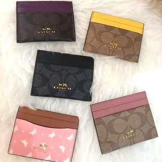 Coach ID  Wallet Card slot Authentic