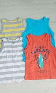 Mothercare singlets 4 - 5 years old