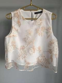 ZARA floral crop top #BFfashion #BlackFriday100