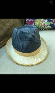 Blue Cream Fedora Hat