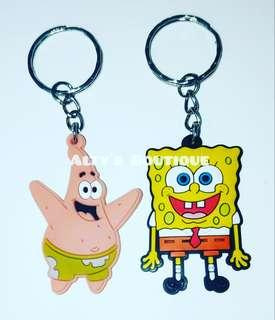 Spongebob and Patrick Keyring