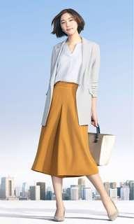🚚 Uniqlo垂墜風空氣感新垣結衣代言款灰色飄逸西裝外套風衣