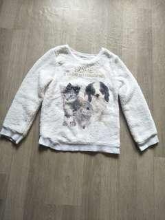 H&M fur sweater
