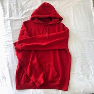 Top shop red hoodie