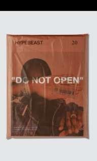 """Hypebeast magazine issue 20: """"do not open"""" off-white c/o virgil abloh"""
