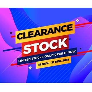 BUY NOW!! SAVE NOW!! Stock Clearance Sale!!