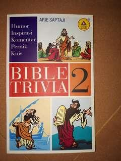 Buku rohani kristen bible trivia 2, humor inspirasi komentar pernik kuis oleh arie saptaji