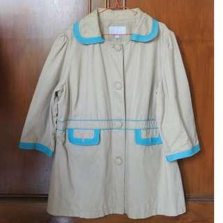 #carousellxzoukout Coat light brown & blue