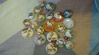 Assorted Hello Kitty button pins
