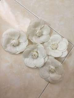 White Camellia Brooch