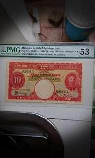 Malaya & British Borneo $10