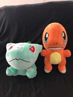 2-Jumbo Pokemon Stuffed Toys