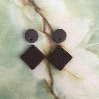 Handmade texture earrings 1
